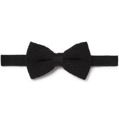 Burberry London Knitted Cashmere Bow Tie