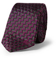 Burberry London - Zig-Zag Patterned Woven-Silk Tie
