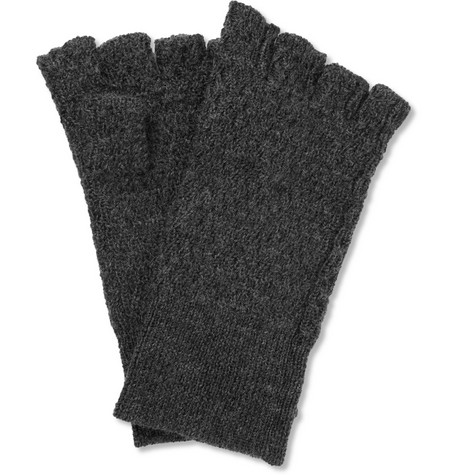 Acne Studios Cusco Wool and Alpaca-Blend Fingerless Gloves