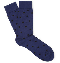 Acne Hockney Polka-Dot Cotton-Blend Socks
