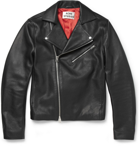 Acne Studios Gibson Leather and Suede Biker Jacket