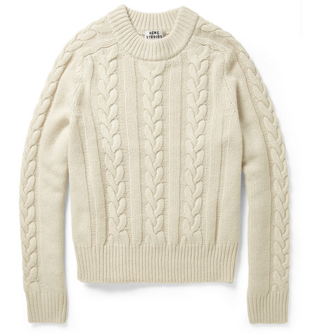 Acne Studios Brent Cable-Knit Wool Sweater