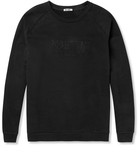 Acne Studios Brian Embroidered Loopback-Cotton Sweater