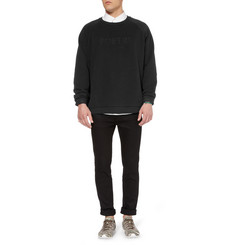 Acne Brian Embroidered Loopback-Cotton Sweater