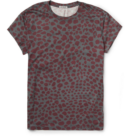 Acne Studios Animal-Print Cotton-Jersey T-Shirt