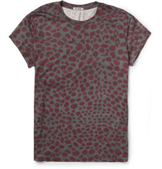 Acne Animal-Print Cotton-Jersey T-Shirt
