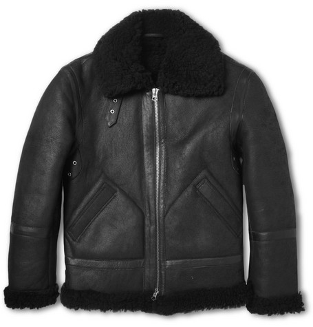 Acne Ian Shearling Biker Jacket