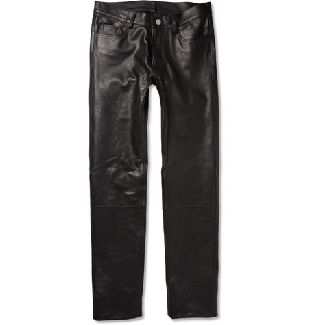 Acne Studios Depp Slim-Fit Leather Trousers