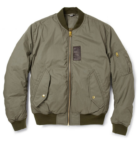 Acne Studios Sid Down-Filled Cotton-Blend Bomber Jacket