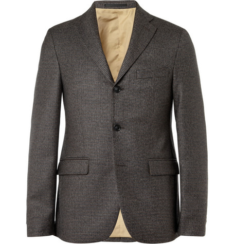 Acne Drifter Slim-Fit Check Wool Blazer