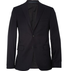 Acne Navy Drifter Slim-Fit Pindot Wool Suit Jacket
