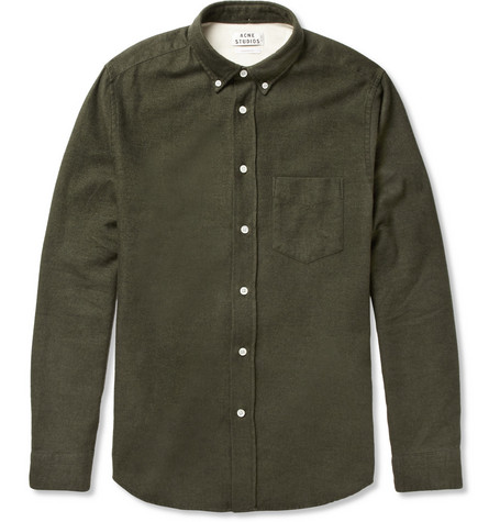 Acne Isherwood Brushed Cotton-Twill Shirt