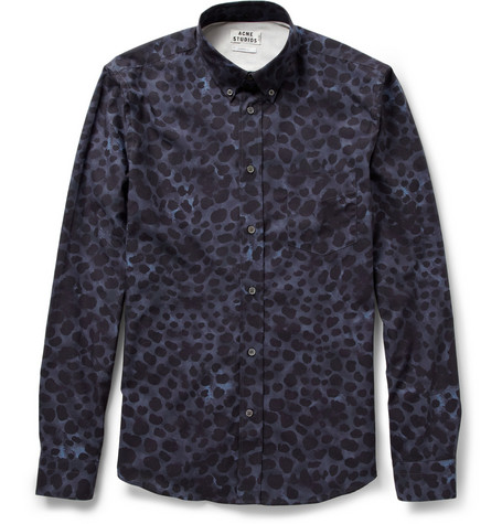 Acne Isherwood Leopard-Print Cotton Shirt