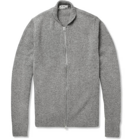 Acne Studios Chet Knitted-Wool Zipped Cardigan