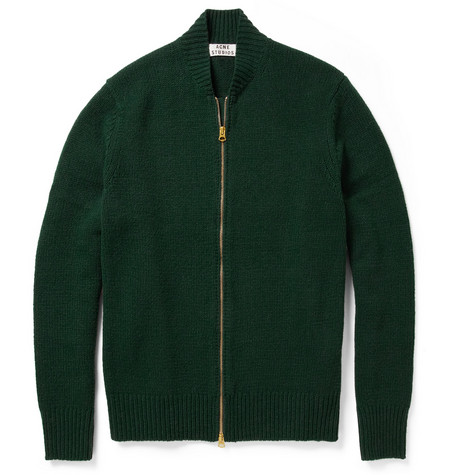 Acne Studios Chet Zip Wool Cardigan