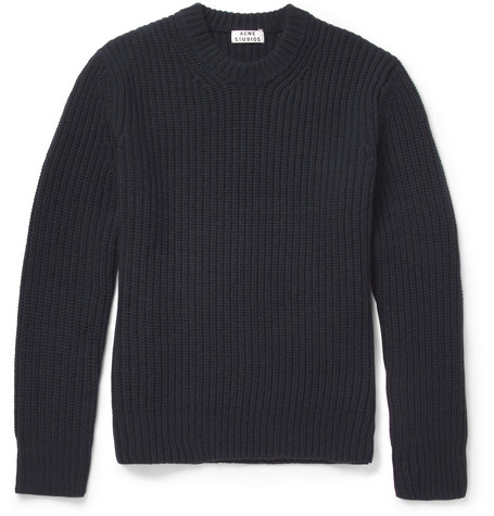 Acne Miles Chunky Ribbed Wool Sweater