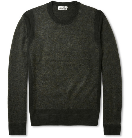 Acne Trick Panelled Wool-Blend Sweater