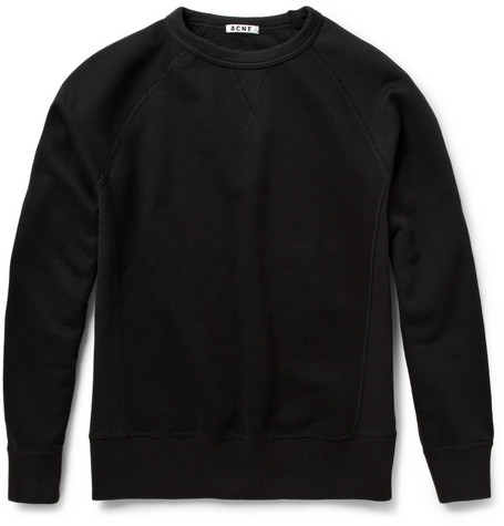 Acne Studios College Loopback-Cotton Jersey Sweatshirt