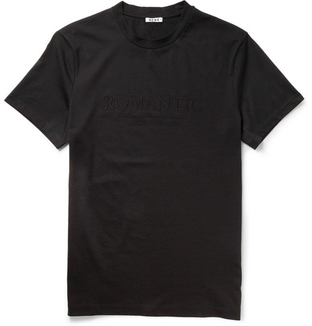 Acne Studios Embroidered Cotton-Jersey T-Shirt