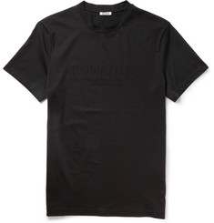 Acne Embroidered Cotton-Jersey T-Shirt