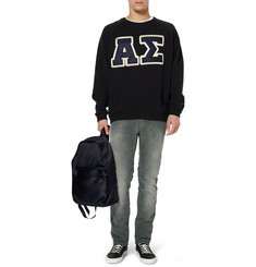 Acne Brian Appliquéd Loopback Cotton Sweatshirt