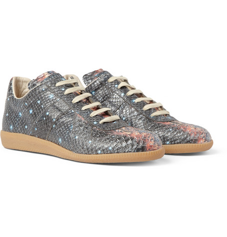 Maison Martin Margiela Galaxy-Print Leather Sneakers