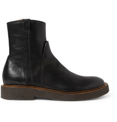 Maison Martin Margiela Crepe-Sole Leather Biker Boots