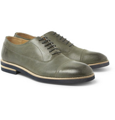 Maison Martin Margiela Burnished-Leather Oxford Shoes