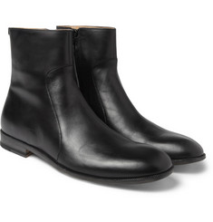 Maison Margiela Zipped Leather Ankle Boots