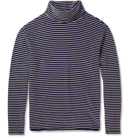 Maison Martin Margiela Striped Cotton Rollneck Sweater