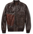 Maison Margiela Patchwork Leather Bomber Jacket