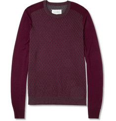 Maison Martin Margiela Patterned Wool Crew Neck Sweater