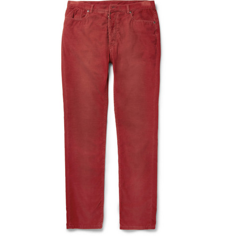 Maison Martin Margiela Slim-Fit Corduroy Trousers