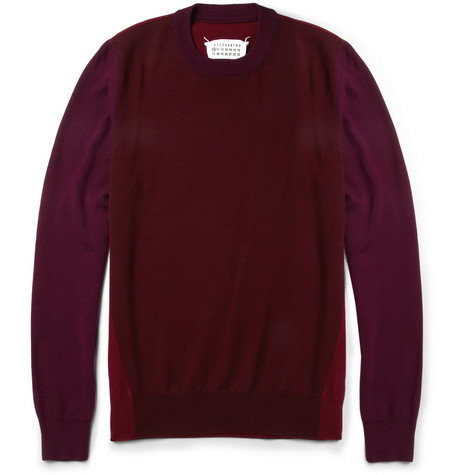 Maison Martin Margiela Panelled Wool Sweater