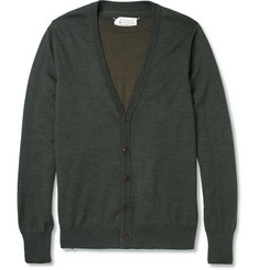 Maison Martin Margiela Layered Wool Cardigan Sweater