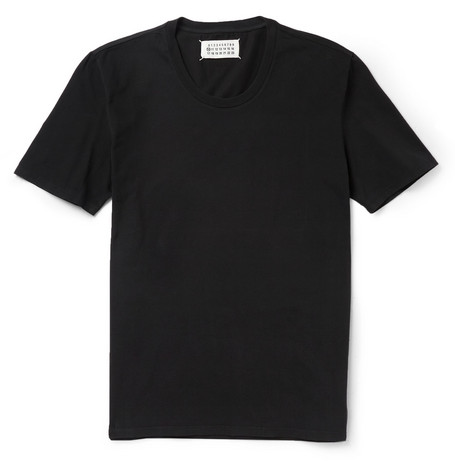 Maison Martin Margiela Garment-Dyed Brushed Cotton-Jersey T-Shirt