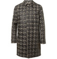 Valentino - Bonded Houndstooth Check Wool Rain Coat