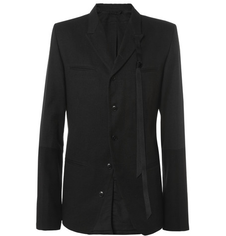 Ann Demeulemeester Panelled Linen and Wool-Blend Blazer