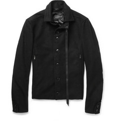 Ann Demeulemeester Slim-Fit Brushed Bomber Jacket