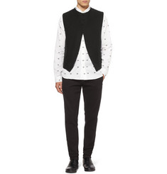 Ann Demeulemeester Linen and Wool-Blend Waistcoat