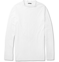 Ann Demeulemeester Raised Crew Neck Cotton-Jersey T-Shirt