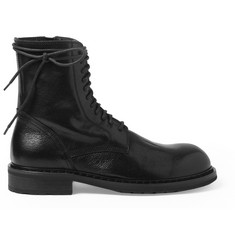 Ann Demeulemeester Full-Grain Leather Boots