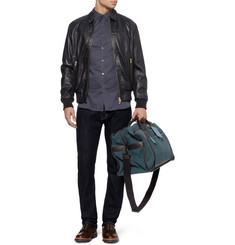 Marc by Marc Jacobs Leather-Trimmed Waxed-Canvas Holdall Bag