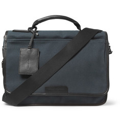 Marc by Marc Jacobs Leather-Trimmed Waxed-Canvas Messenger Bag