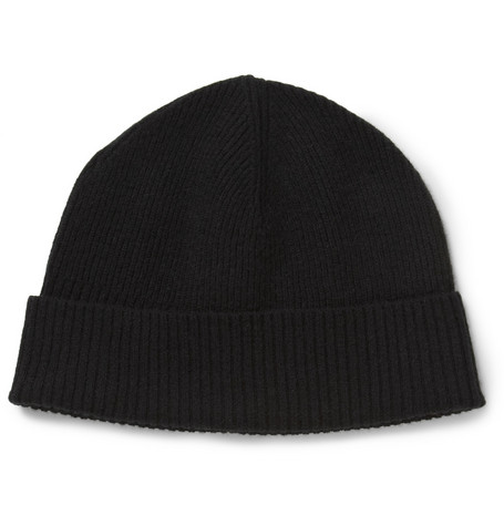 Marc by Marc Jacobs Morristown Ribbed Cashmere Beanie Hat