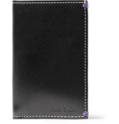 Paul Smith Shoes & Accessories Pin-Up Print Leather Card Holder