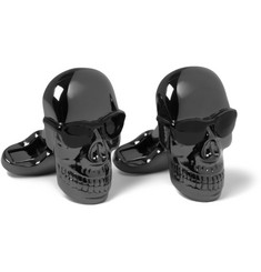 Paul Smith Shoes & Accessories Engraved Metal Skull Cufflinks