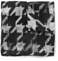 Paul Smith Shoes & Accessories Houndstooth-Print Silk Pocket Square