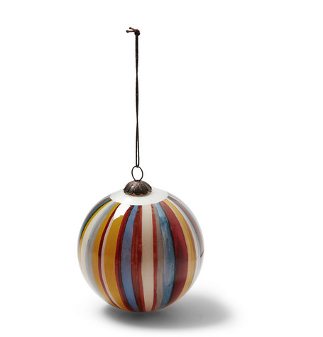Paul Smith Shoes & Accessories Striped Glass Tree Ornament