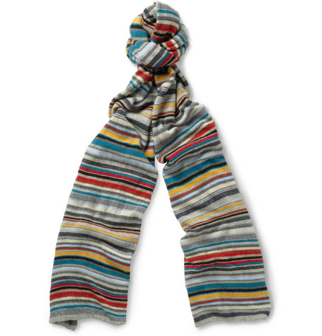 Paul Smith Shoes & Accessories Striped Knitted Scarf
